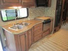 Kitchen Sink, Counter, Counter Backsplash, Cabinets, Microwave/convection Oven, Stove