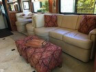 Leather Sofa With Blow-up Matress
