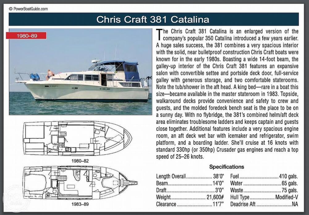 1984 Chris-Craft 381 Catalina For Sale