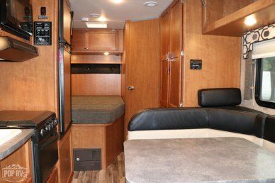 Bed - Full, Cabinets, Control Center, Cooktop Cover, Dinette, Hood Fan, Interior Lighting, Oven, Stove