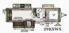 2018 Flagstaff Super Lite 29KSWS Floor Plan